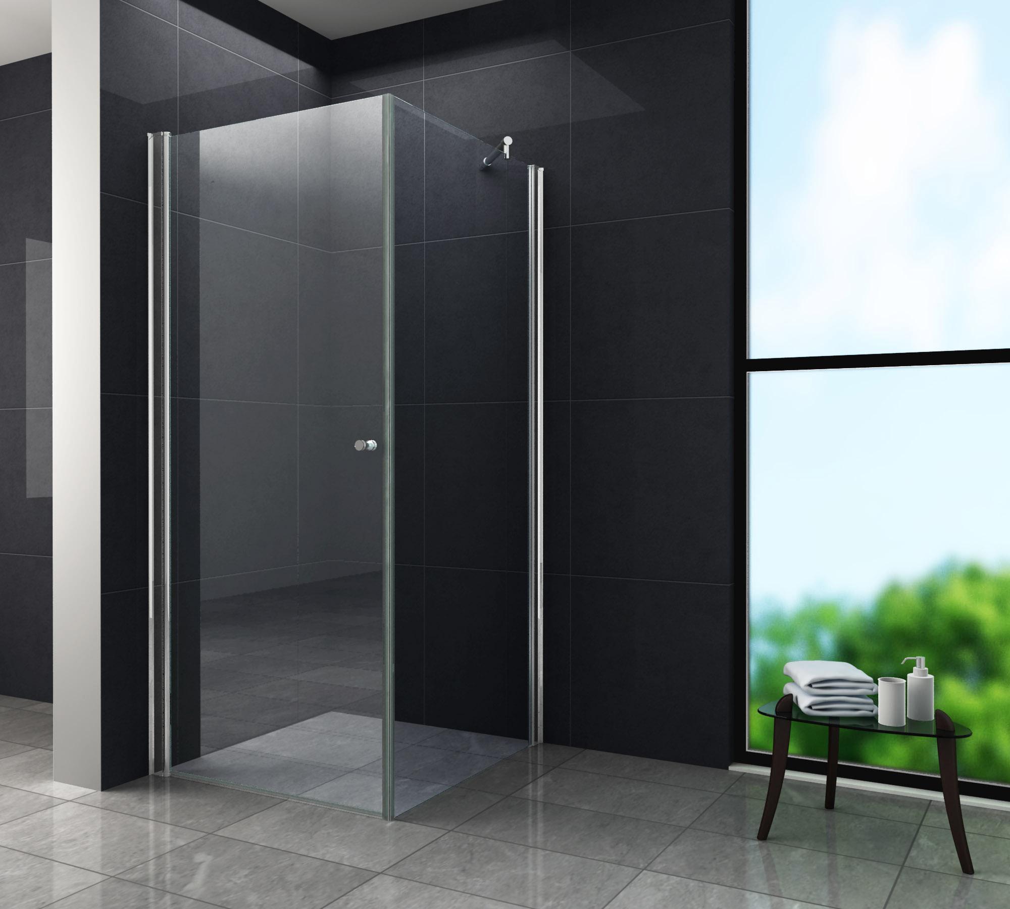 Duschkabine SPA-FIX 90 x 90 x 190 cm ohne Duschtasse