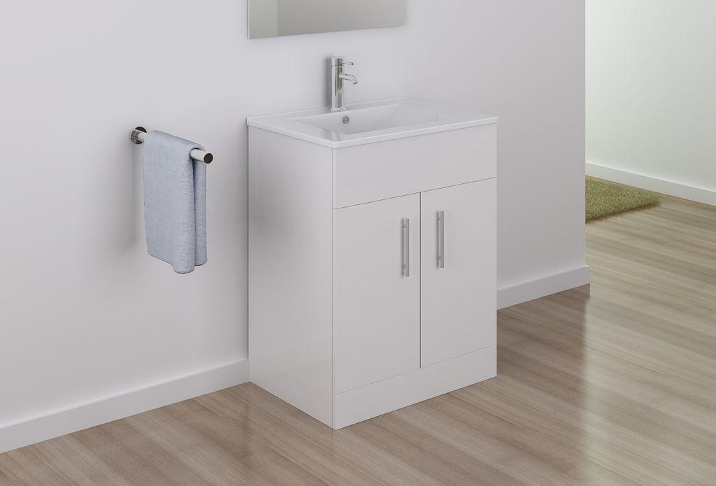 Badmöbel Unterschrank STANO 60 in weiß inkl. Waschtisch