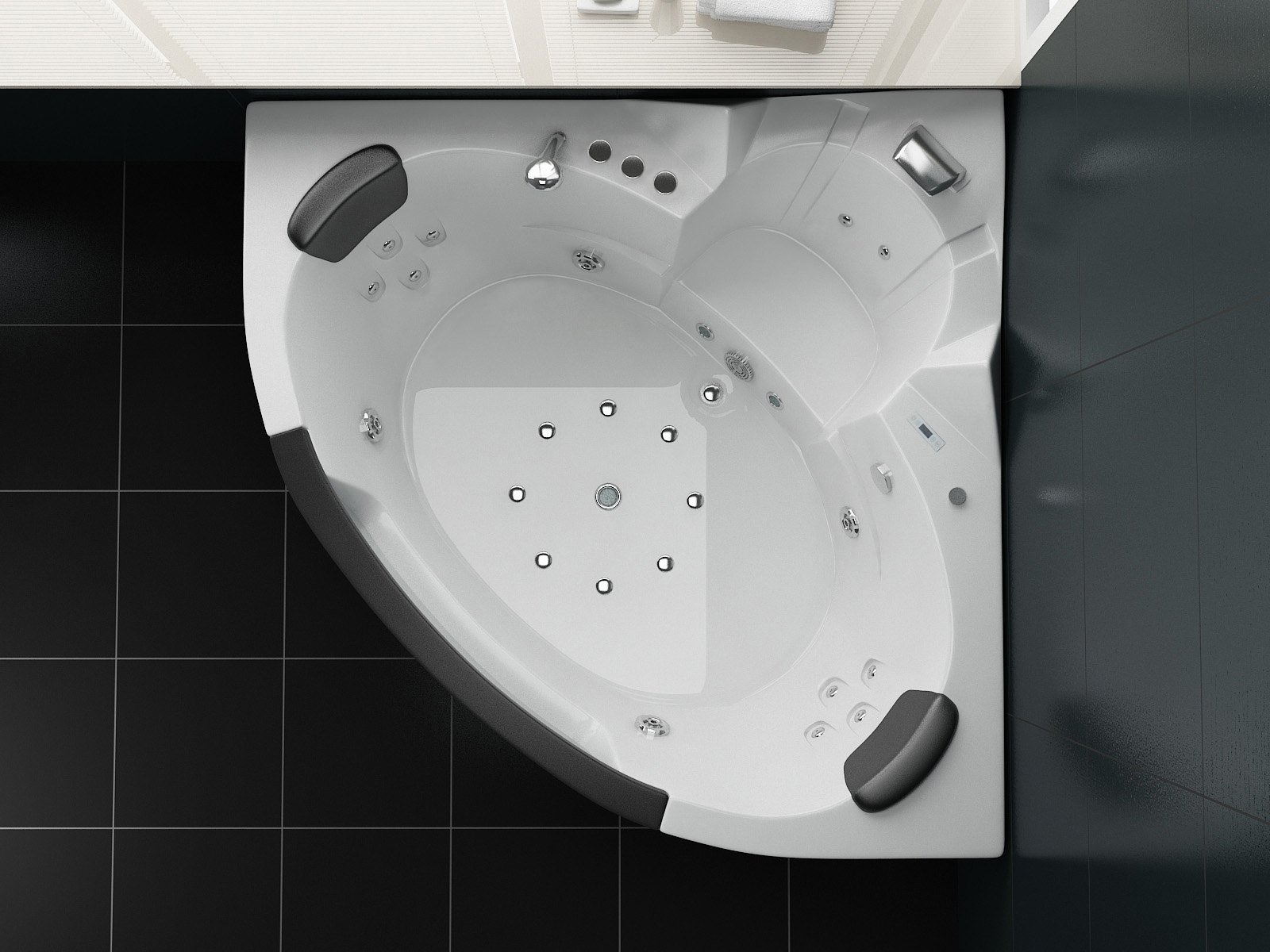 Whirlpool-Badewanne STREAM 140 x 140 cm