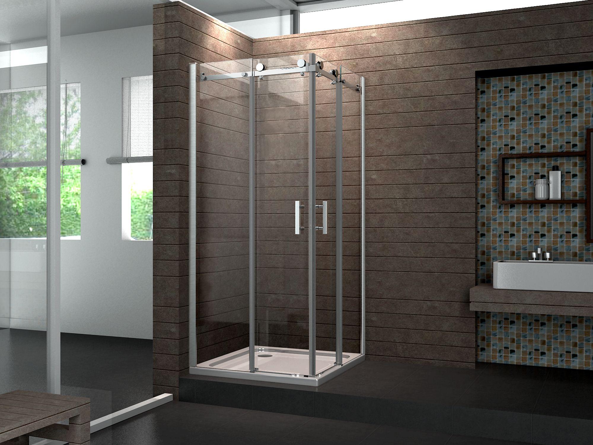 Duschkabine TELA 80 x 90 x 195 cm ohne Duschtasse