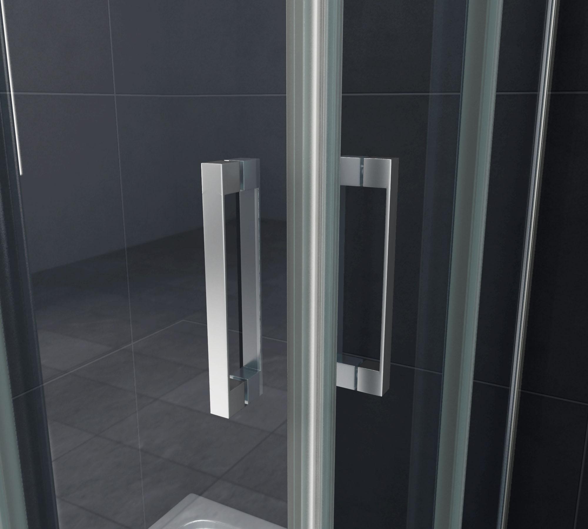 Duschkabine TELA 100 x 100 x 200 cm inkl. Duschtasse