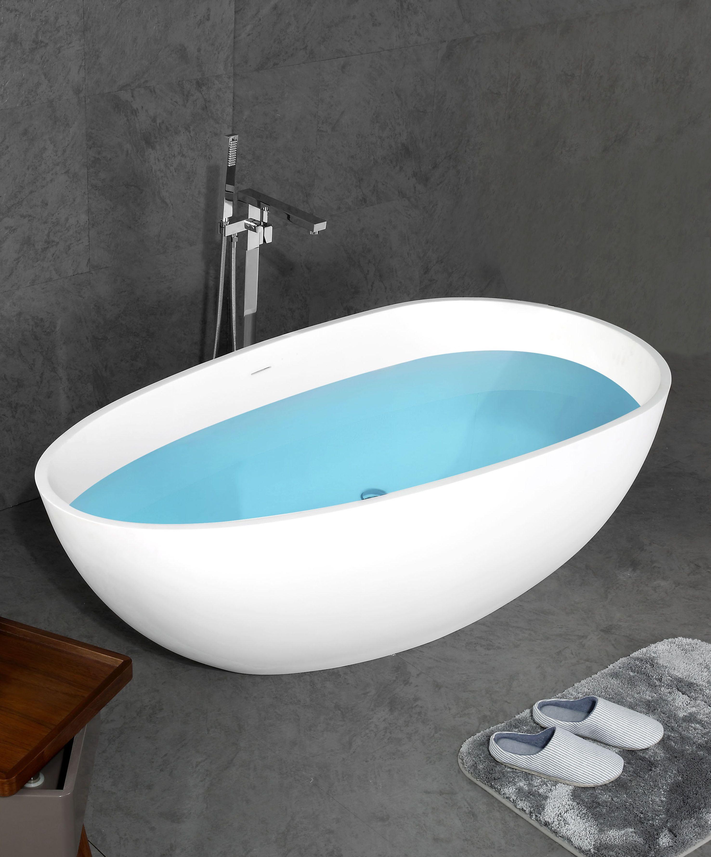 Mineralguss - Badewanne TIN-185 (freistehend)