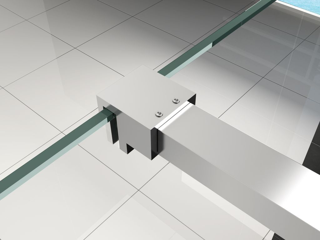 8 mm Duschwand TIPO 140 x 200 cm