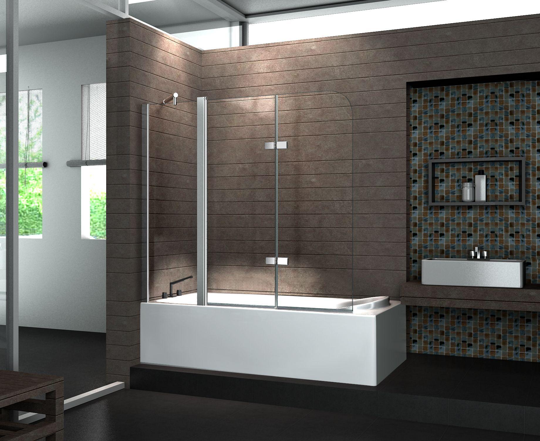 Duschabtrennung Für Badewanne duschtrennwand 150 x 140 badewanne glasdeals