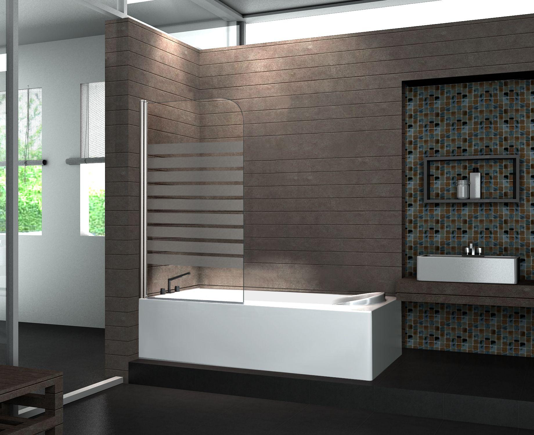 Duschtrennwand WELLNESS-Frost 80 x 140 cm (Badewanne)