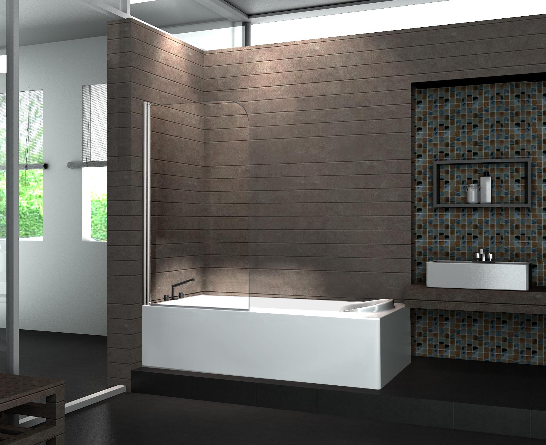 Duschtrennwand WELLNESS 80 x 140 (Badewanne)