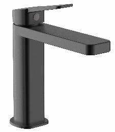 Einhebel-Waschtischarmatur QUAD 110 (matt-schwarz)