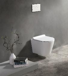 Raumspar-Wand-WC (spülrandlos) inkl. Soft-Close Sitz WHR-6185