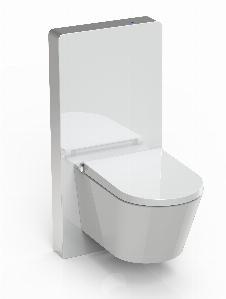 Sensor-Sanitärmodul für Wand-WC (Weißglas)