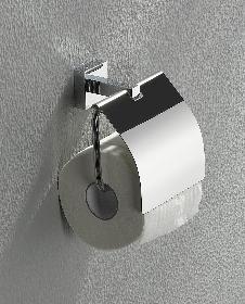 ANGOLUX Toilettenpapierhalter mit Deckel
