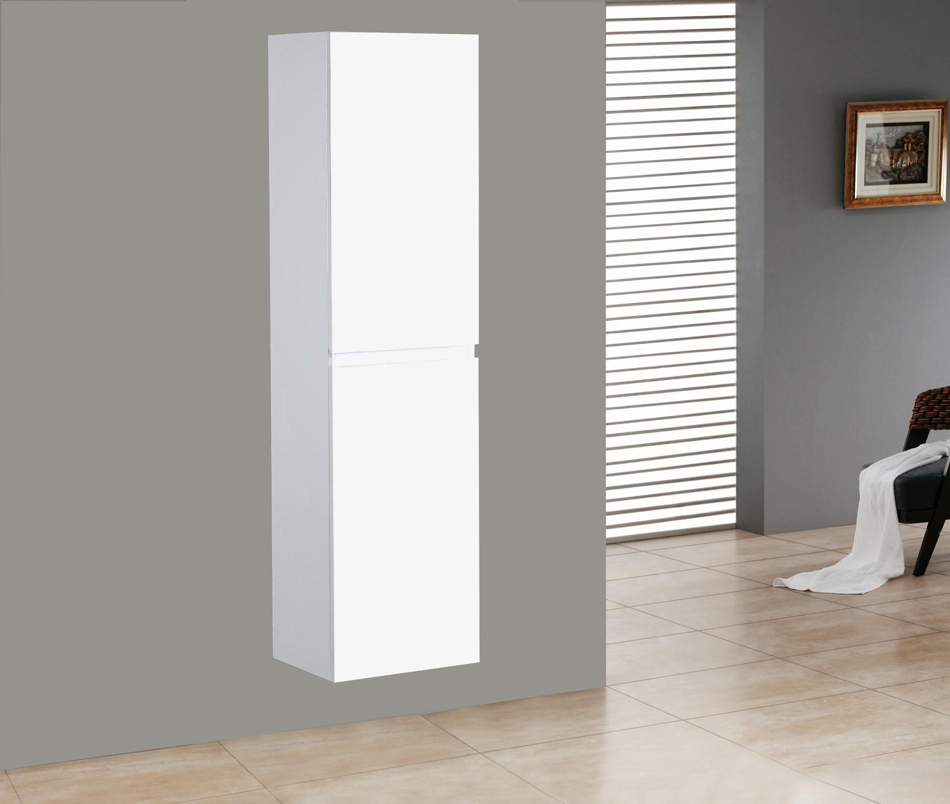 Badmöbel Seitenschrank ALGO in hochglanz-weiß