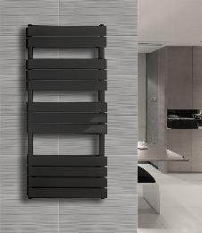 Badheizkörper BLOCK-S in 180 x 60 cm (Seitenanschluss, grau)
