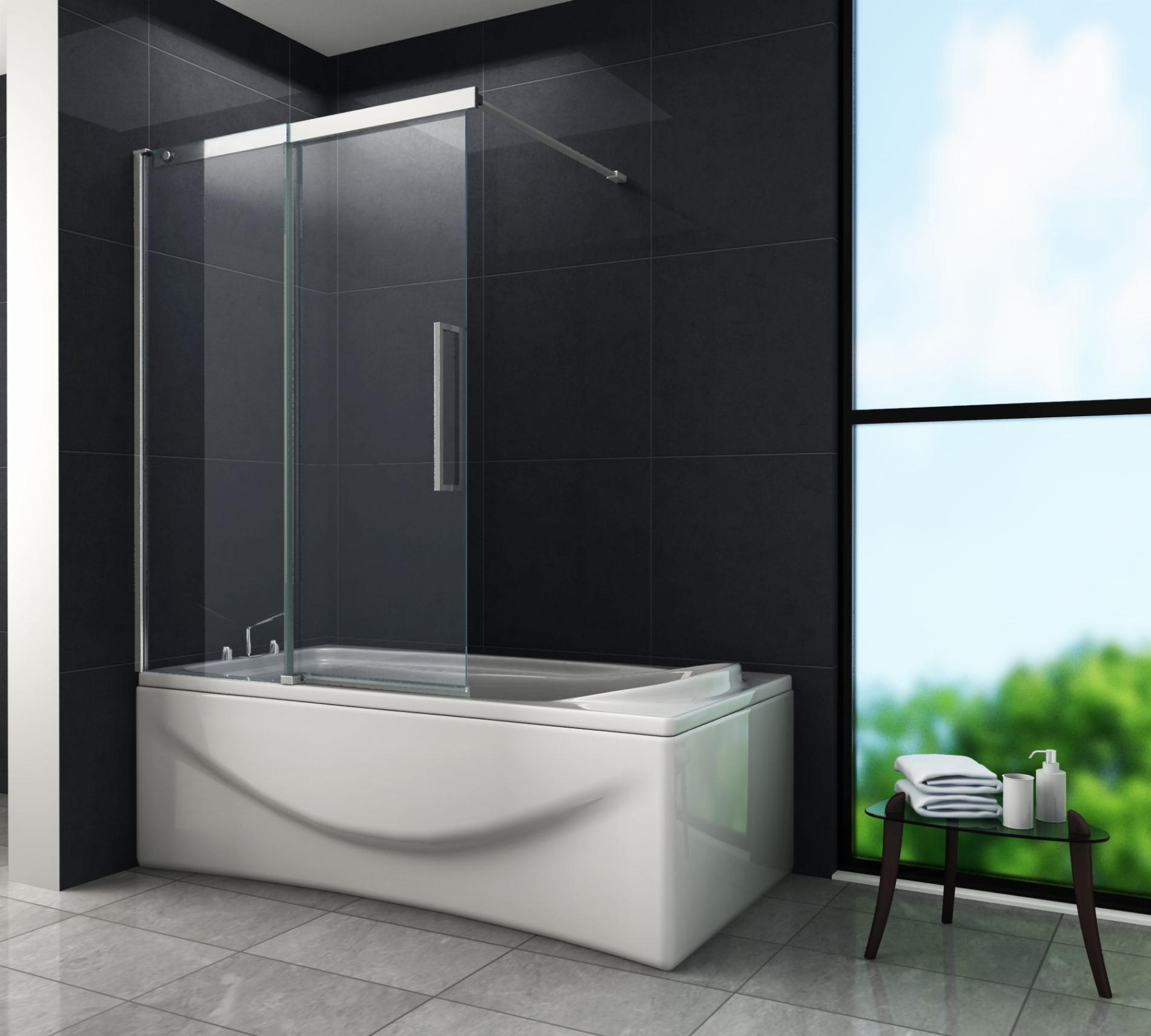 Schiebetür Duschtrennwand DOZE 20 x 20 Badewanne
