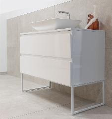 Badmöbel Unterschrank EDDIE (hochglanz-weiß) ohne Waschtisch