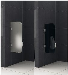 Glas Urinaltrennwand GRADO
