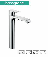 HG Metris Einhebel-Waschtischmischer 260 für Waschschüsseln mit Zugstangen-Ablaufgarnitur