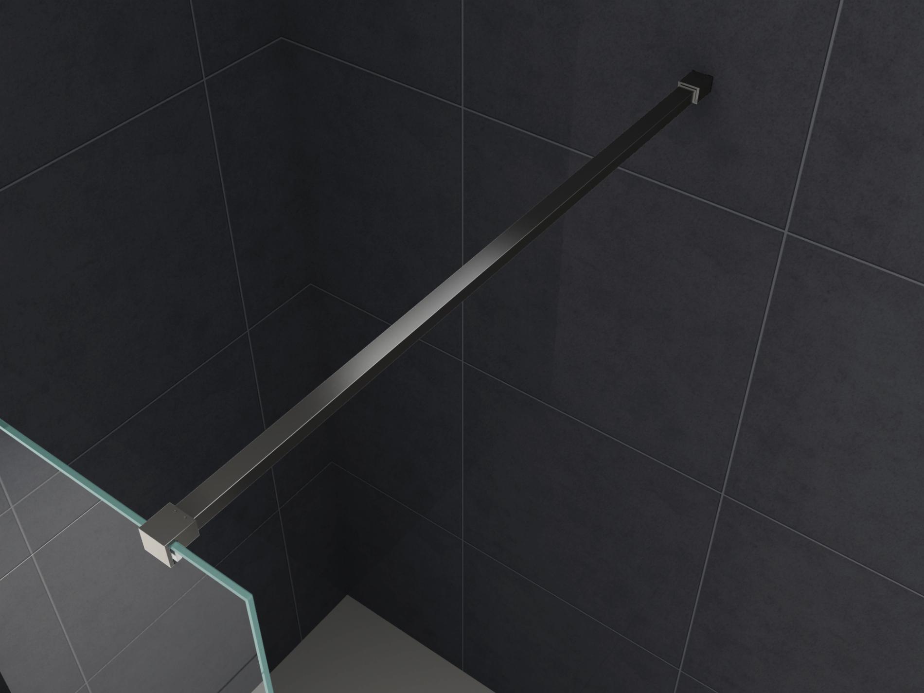 140 cm SLIM-DESIGN-Haltestange für Duschwände (schwarz)